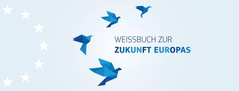 """Logo """"Weißbuch zur Zukunft Europas"""""""