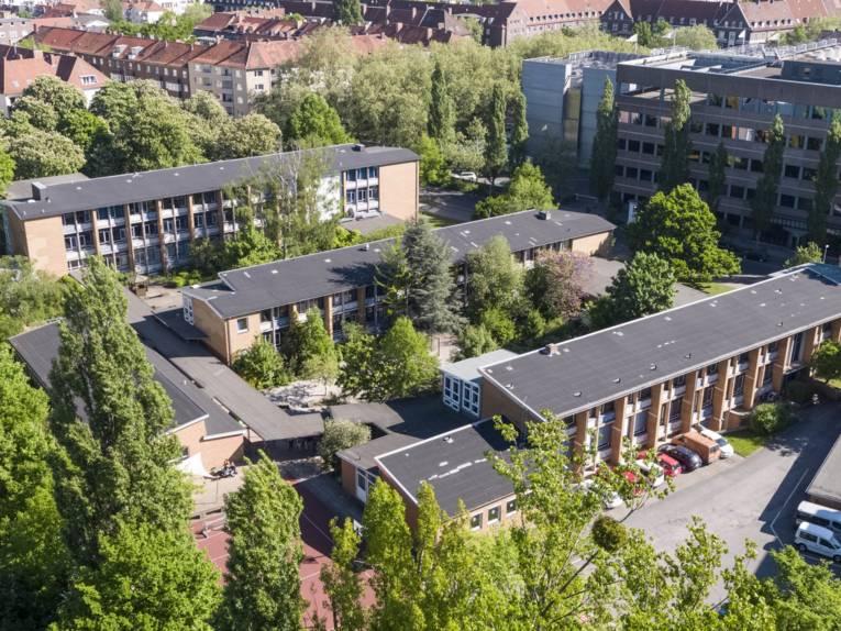 Luftaufnahme eines Gebäudes