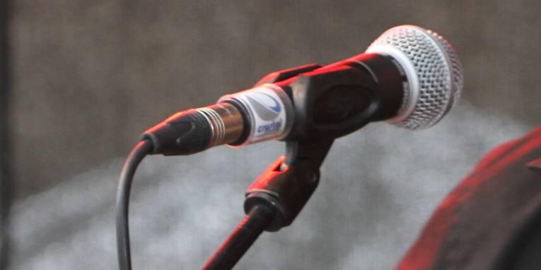 Mikrofon in einem Ständer