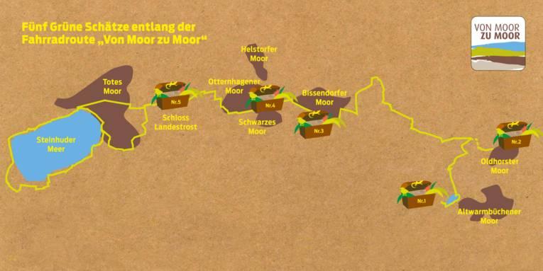 Schematisierte Karte