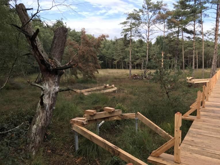 Erdanker, Balken, Teile eines Holzstegs