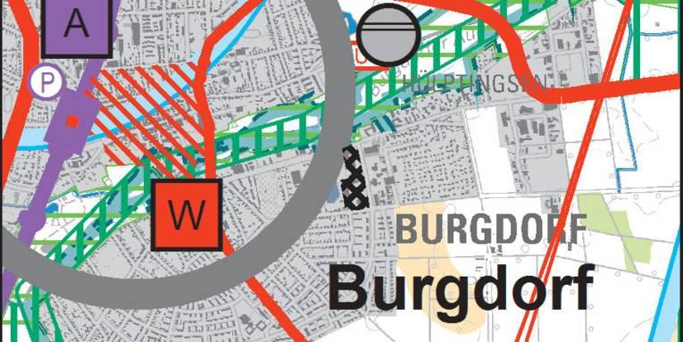 Kartenausschnitt Burgdorf