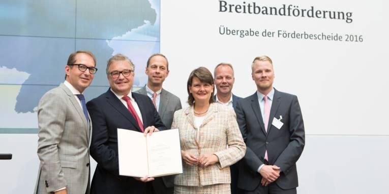 v.lks.: Hauke Jagau, Dr. Hendrik Hoppenstedt, Dr. Maria Flachsbarth,Dr. Matthias Miersc, Lennart Heise