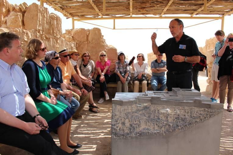 Die Gruppe auf der Festung Masada
