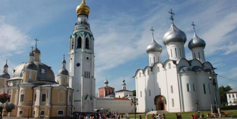 Russische Kathedralbau mit Zwiebeltürmen