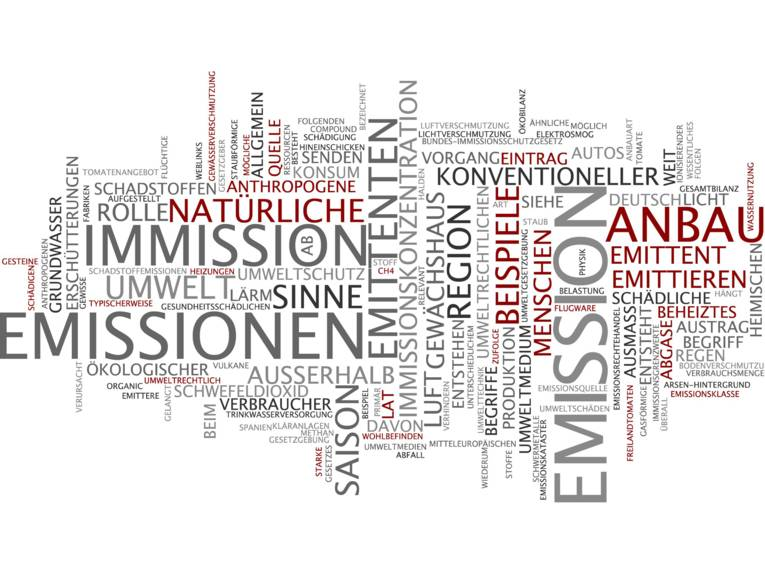 Schriftzüge Emission/Immission