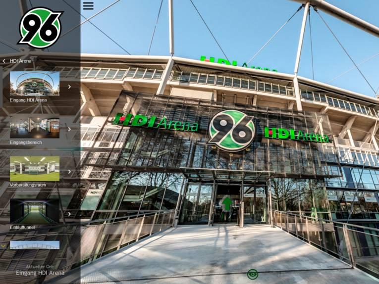 360° Panorama Tour durch die HDI-Arena von Hannover 96.