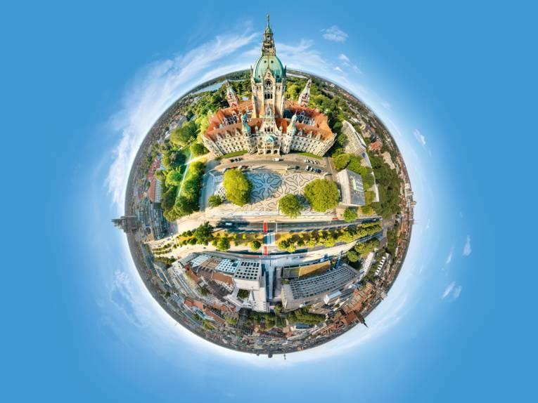 360 Grad Panorama Neues Rathaus