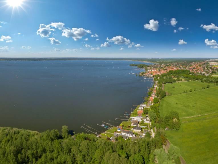Panoramablick auf das Steinhuder Meer