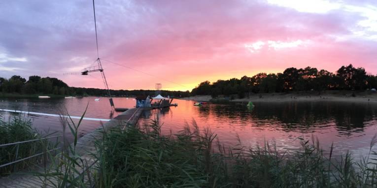 Sonnenuntergang Blauer See