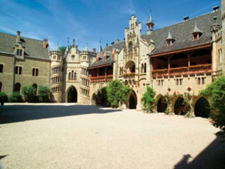 Innenhof auf Schloss Marienburg