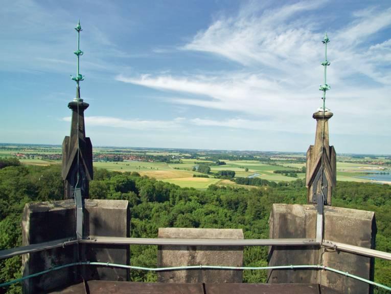 Schloss Marienburg - Turmaussicht