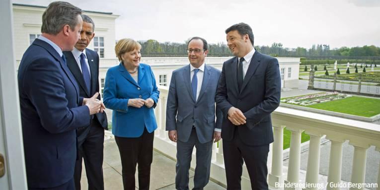 Visit Hannover - Obama, Merkel, Cameron, Hollande, Renzi (Bild: Bundesregierung / Guido Bergmann)