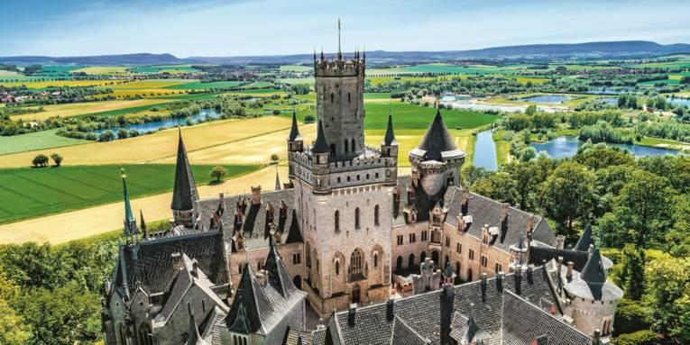 Luftbild Schloss Marienburg
