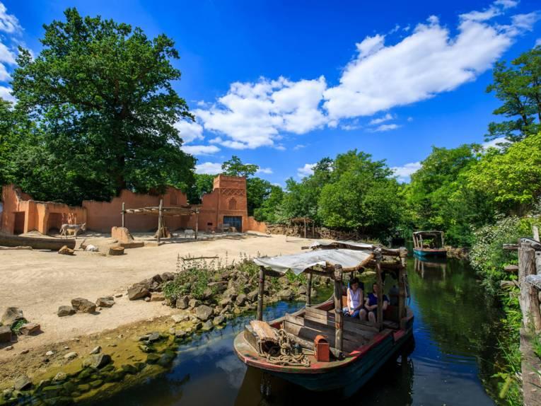 Sambesi-Bootsfahrt im Erlebnis-Zoo Hannover