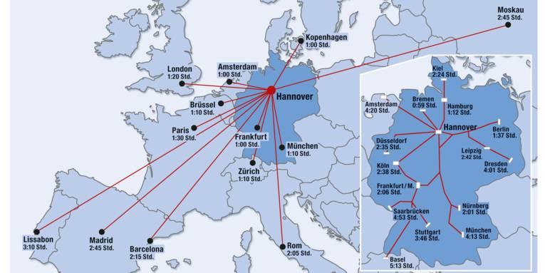 Karte Europa / Deutschland