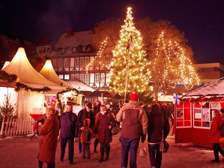 Finnisches Weihnachtsdorf