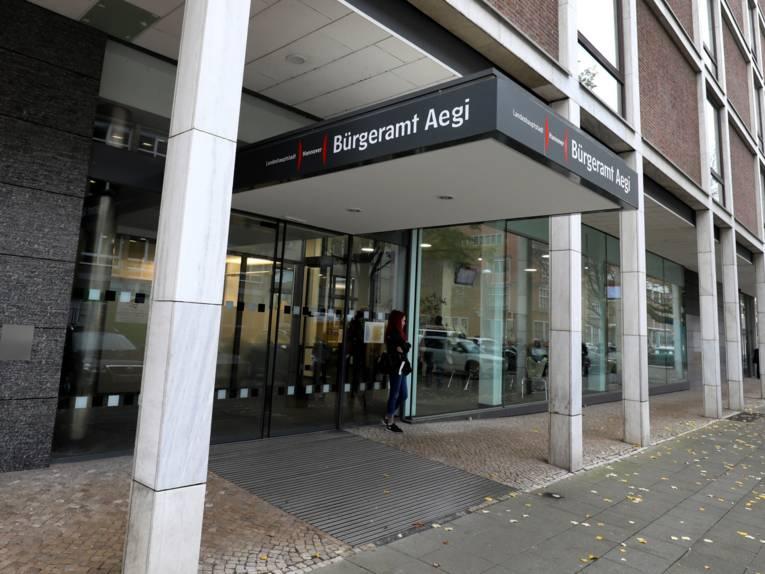 Der Eingang zum Bürgeramt Aegi