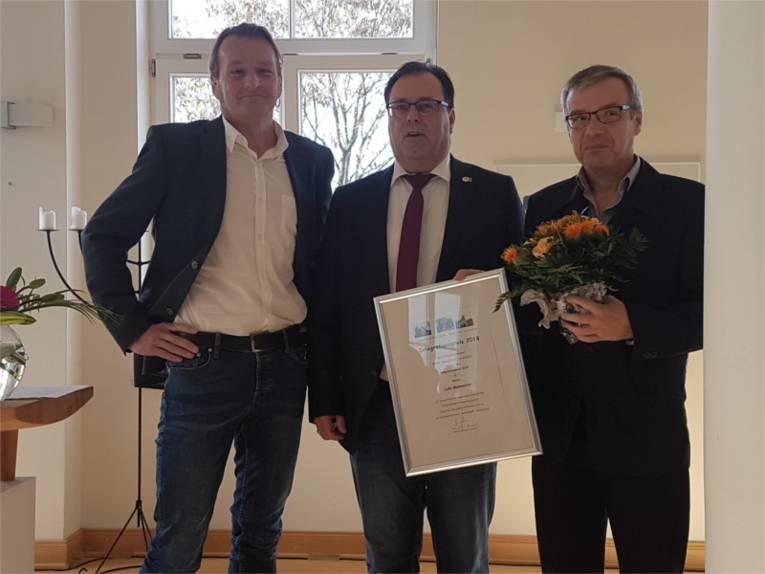 Lutz Glasmacher erhält den Integrationspreis 2018.