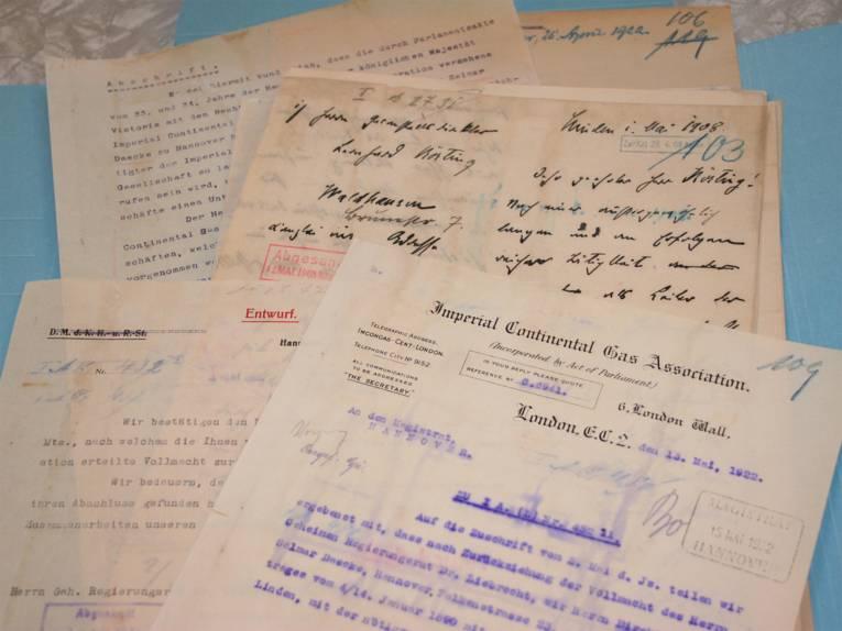 Die gereinigten Dokumente nach der Behandlung.