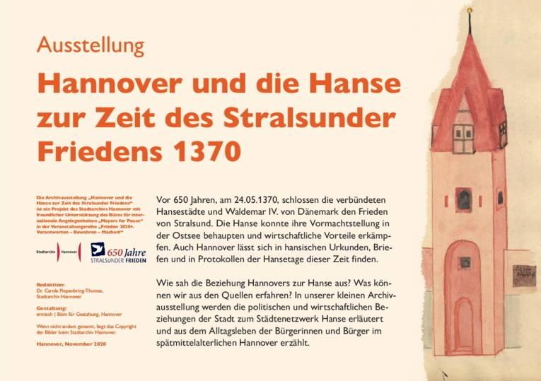 Hannover und die Hanse zur Zeit des Stralsunder Friedens 1370