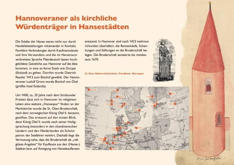 Hannoveraner als kirchliche Würdenträger in Hansestädten