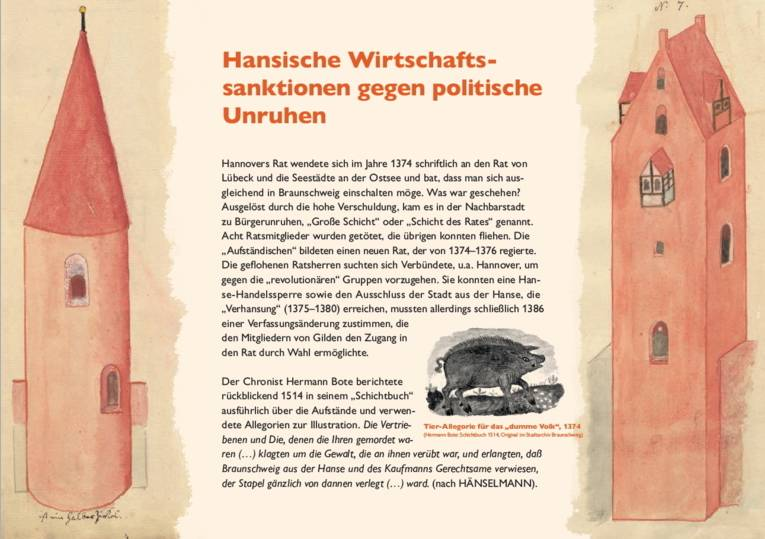 Hansische Wirtschaftssanktionen gegen politische Unruhen