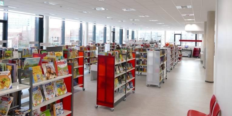 Bibliothek am Mühlenberger Markt.