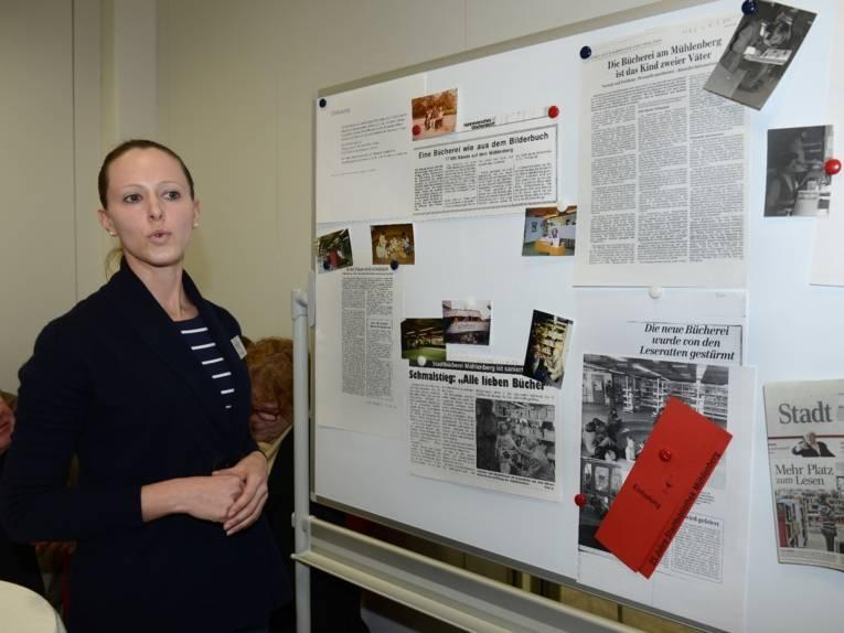 Daniela Schömburg dokumentiert den Neubau der Bibliothek