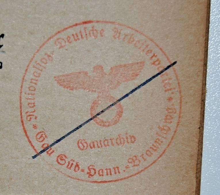 Stempel des NSDAP-Gauarchivs