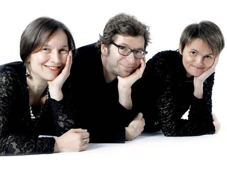 Christine Hagemann (Flöte), Monika Herrmann (Cello) und Daniel Kaczmarek (Piano)