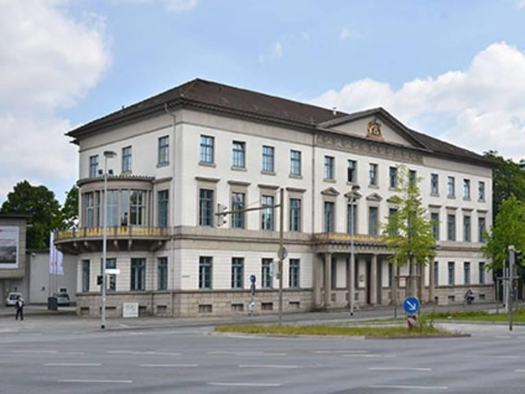 Friedrichswall 1, Nds. Wirtschaftsministerium, Wangenheimpalais (1829-1833 von G. L. Fr. Laves), damals Friedrichstraße. Foto von Reinhard Gottschalk, 2015