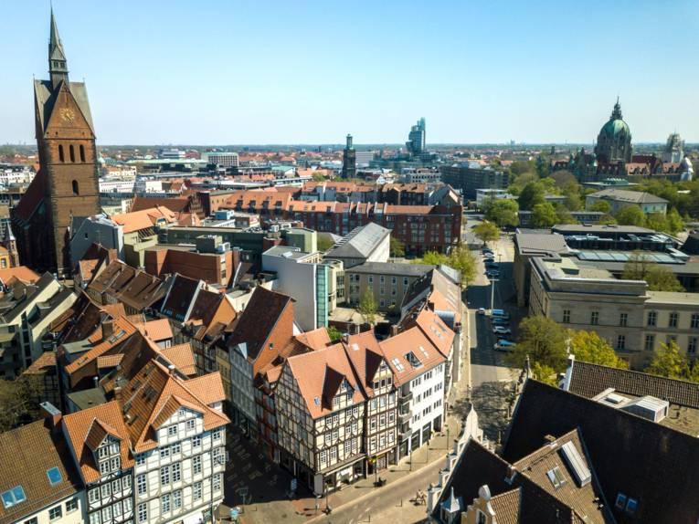 Luftaufnahme Hannover Altstadt
