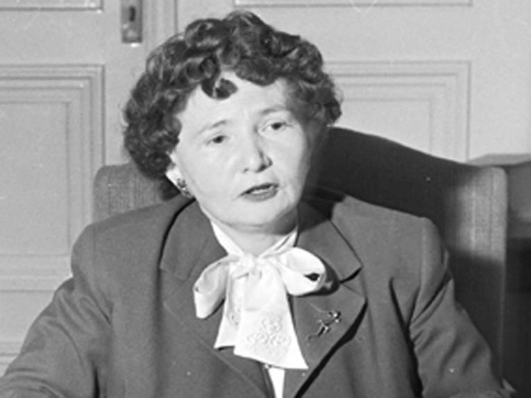Regierungspräsidentin Theanolte Bähnisch (Bildausschnitt), Foto: Reinhold Leßmann, um 1950