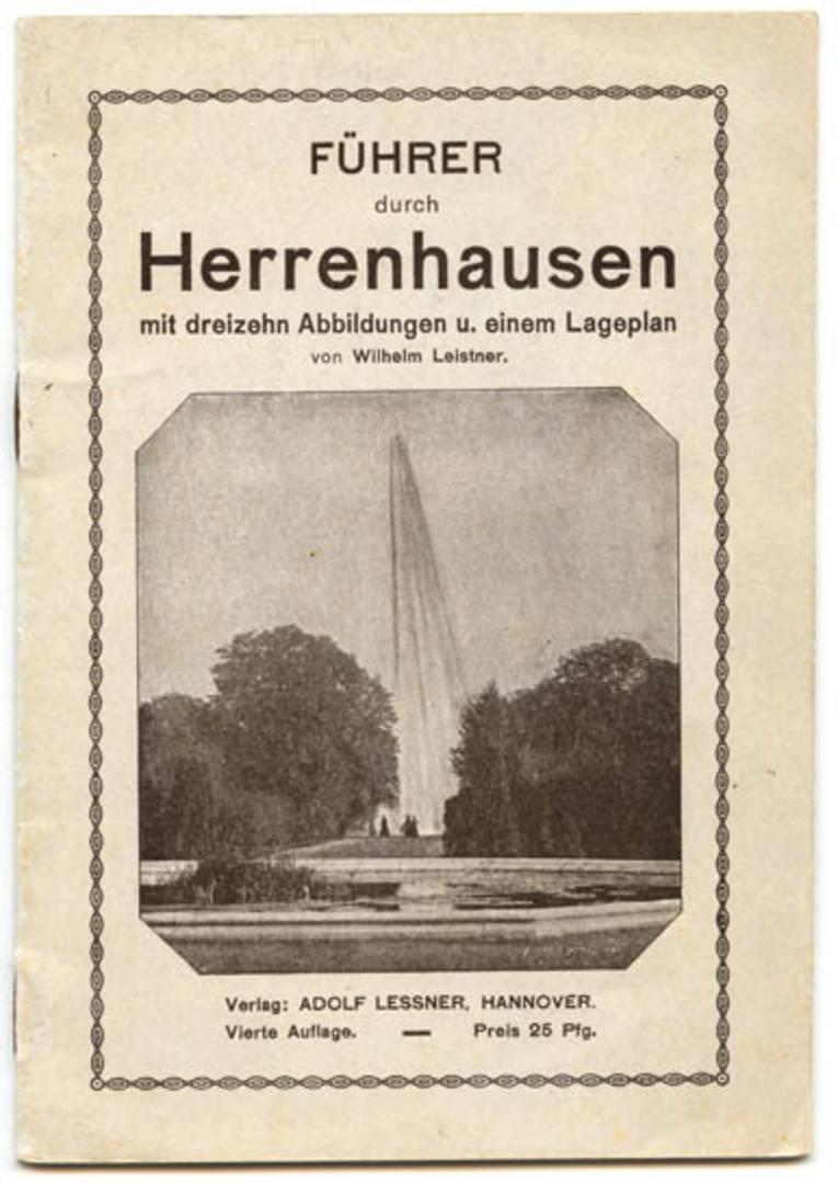 """Heft """"Führer durch Herrenhausen mit dreizehn Abbildungen u. einem Lageplan"""", 1914"""