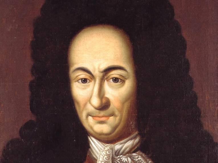 Ausschnitt aus einem Ölgemälde von G.W. Leibniz