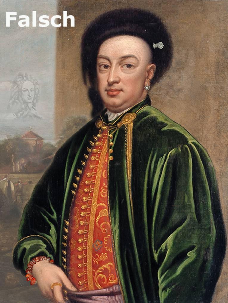 Ludwig Maximilian Mehmet von Königstreu, Bild mit Fehlern
