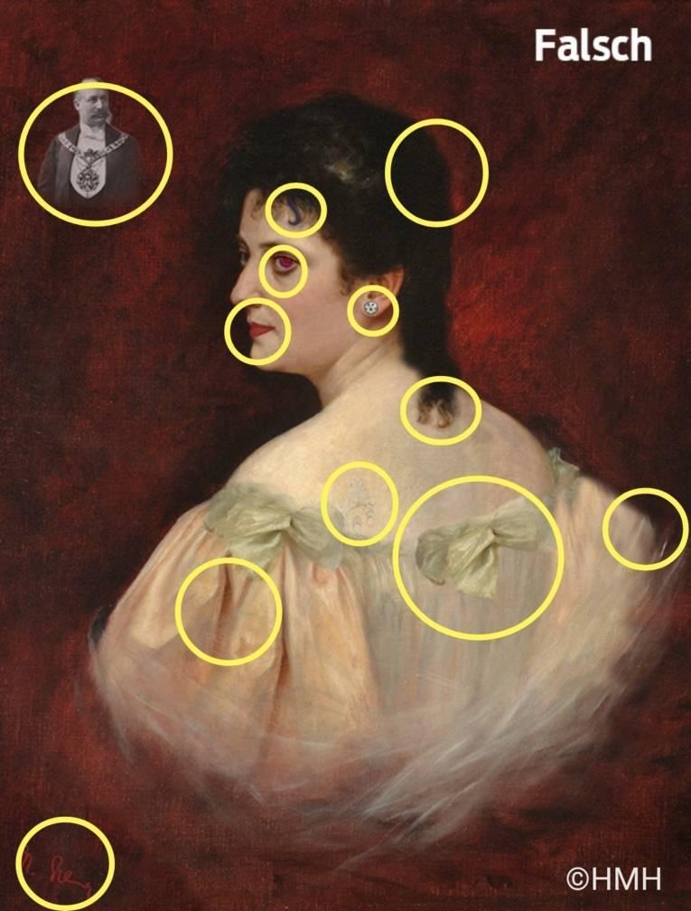 Porträt von Olga Polna-Tramm (Lösung des Rätsels)