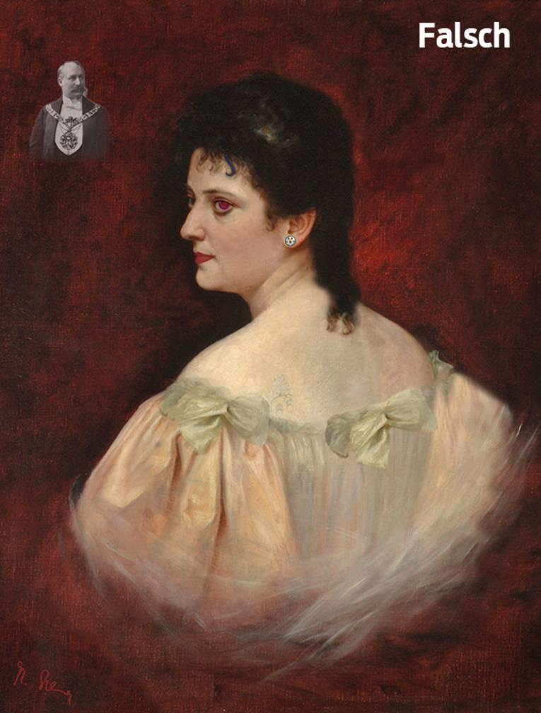 Porträt von Olga Polna-Tramm (1869–1936) mit 10 Fehlern