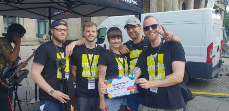 Das Team PPC auf der Fête de la Musique unterstützt die Kulturhauptstadtbewerbung!