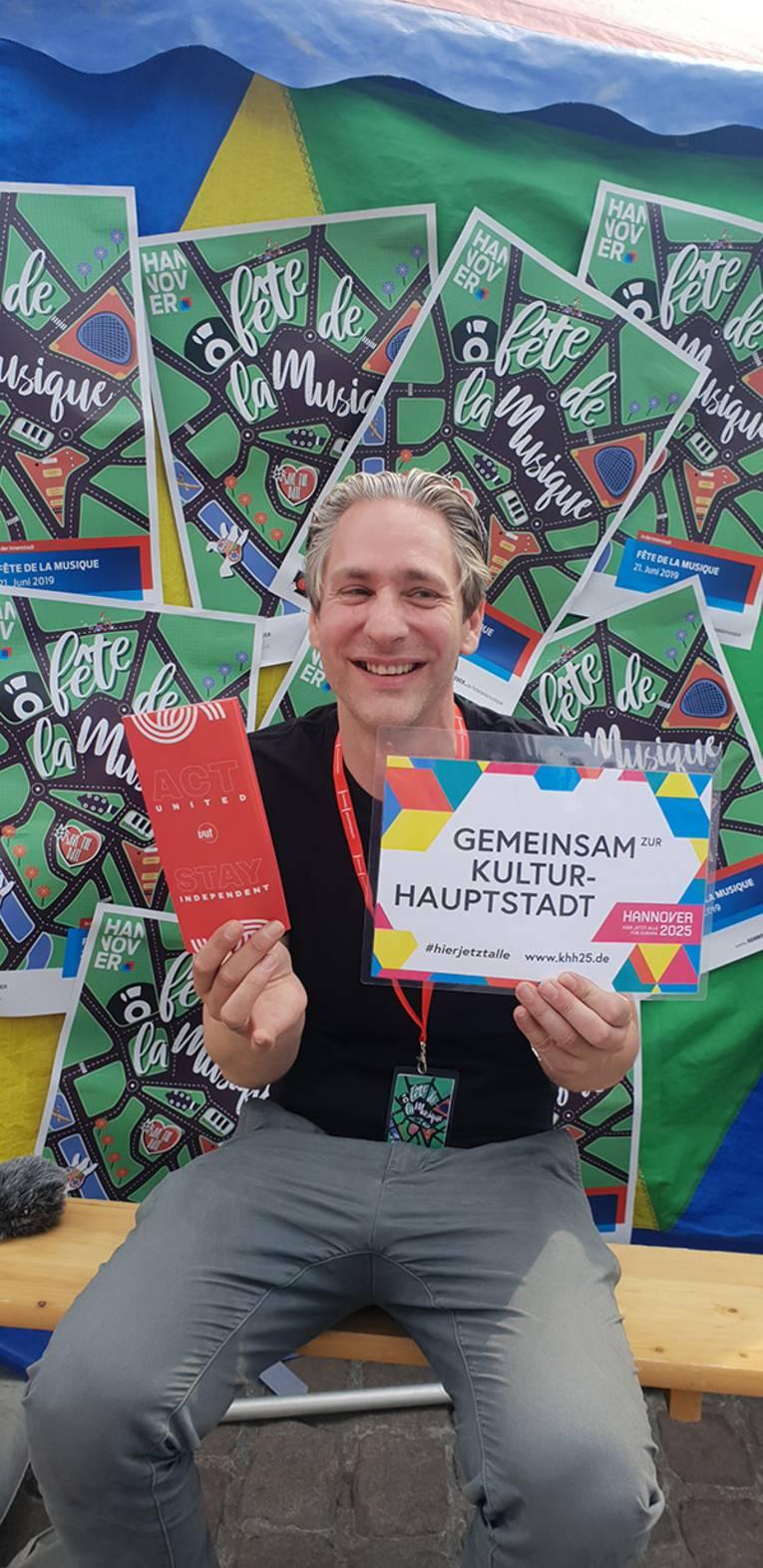 Künstler*innen auf der Fête de la Musique unterstützen die Kulturhauptstadtbewerbung!
