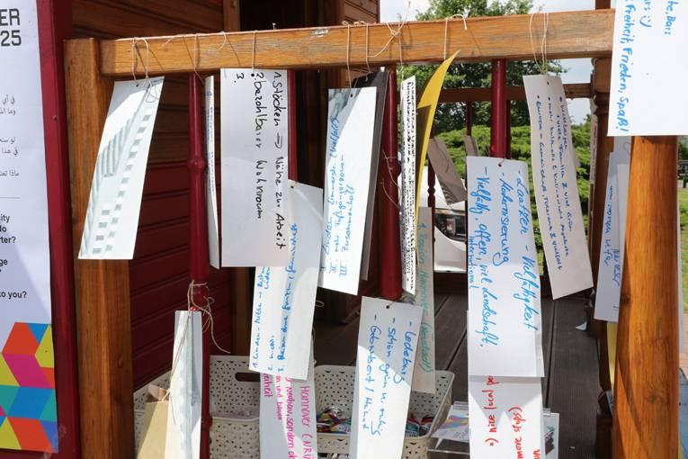 Die Ideen und Vorstellungen zur Kulturhauptstadtbewerbung wurden am Kiosk hinterlassen.