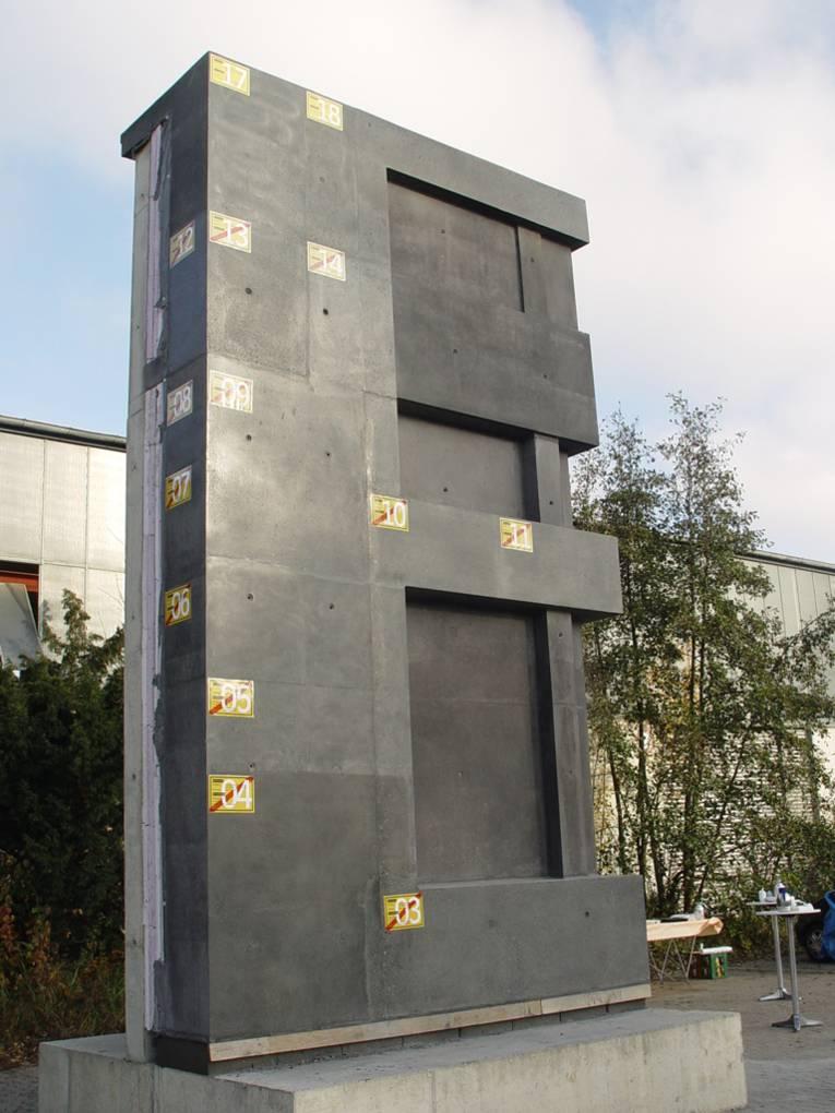 Die Erprobungsfläche der Fassade des Sprengel-Erweiterungsbaus