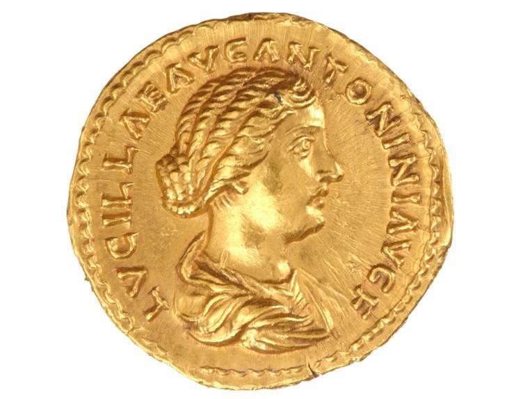 Römische Goldmünze aus der Sammlung des Juden Dr. Albert David, Großburgwedel. Museum August Kestner