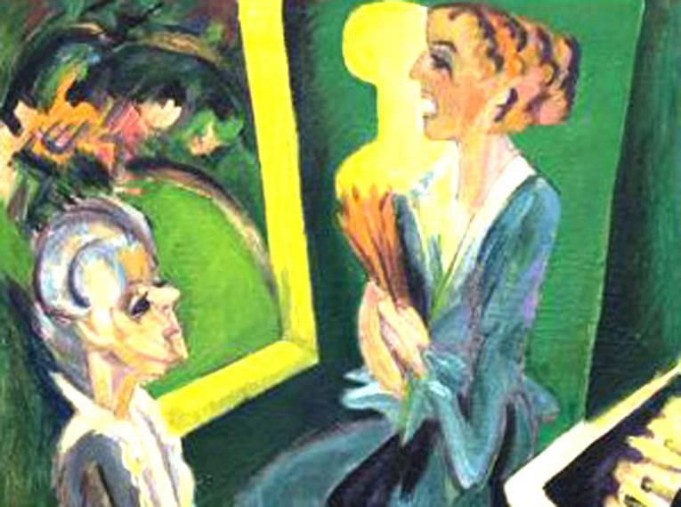 Ernst Ludwig Kirchner, Musikzimmer II, 1915, Öl auf Leinwand