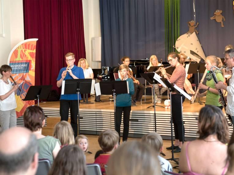 Ensemble MaRe auf dem Musikschulfest