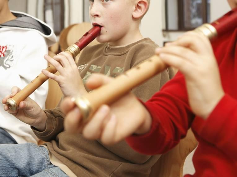 Blockflöten-Unterricht der Musikschule