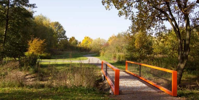 Brücke im Wissenschafts- und Technologiepark Marienwerder