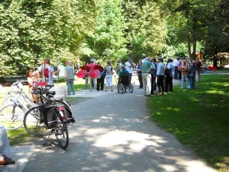 Einweihung des Fitnessparcours am Tiergarten