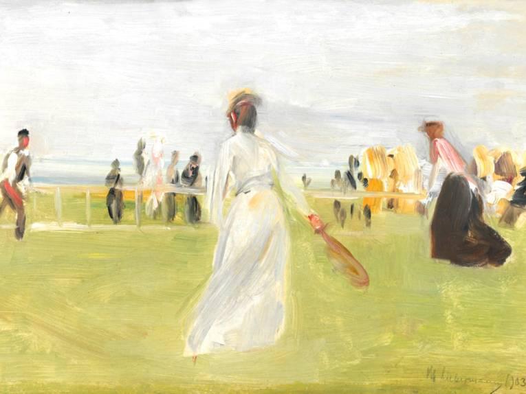 Max Liebermann, Tennisspieler am Meer 1903, (ehem. Sammlung Eduard Fuchs)